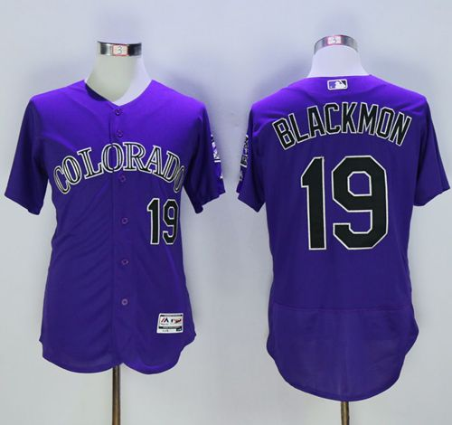 Rockies #19 Charlie Blackmon Purple Flexbase Authentic Collection Stitched MLB Jersey