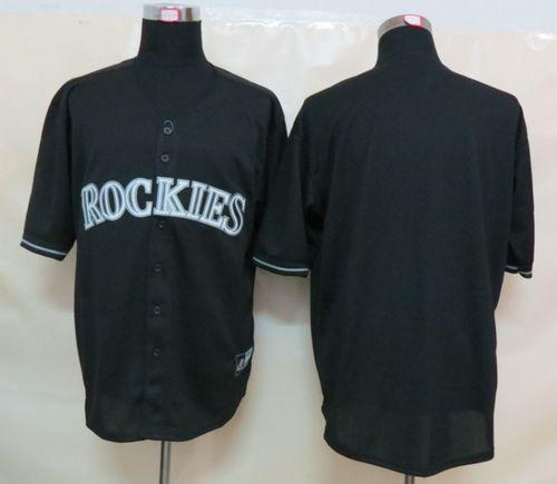Rockies Blank Black Fashion Stitched MLB Jersey