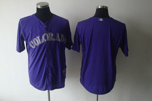 Rockies Blank Purple Cool Base Stitched MLB Jersey