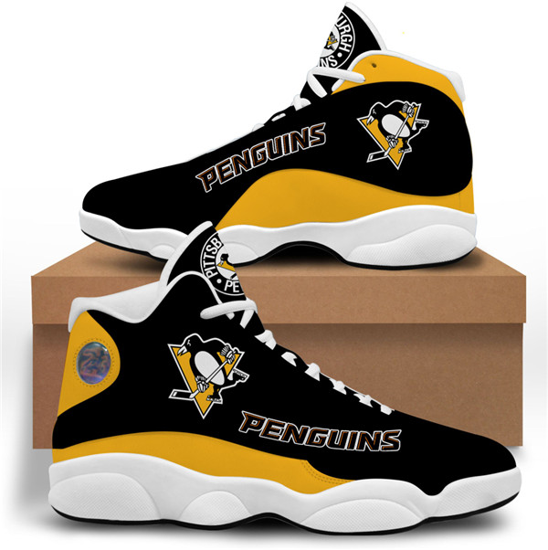 Women's Pittsburgh Penguins AJ13 Series High Top Leather Sneakers 001