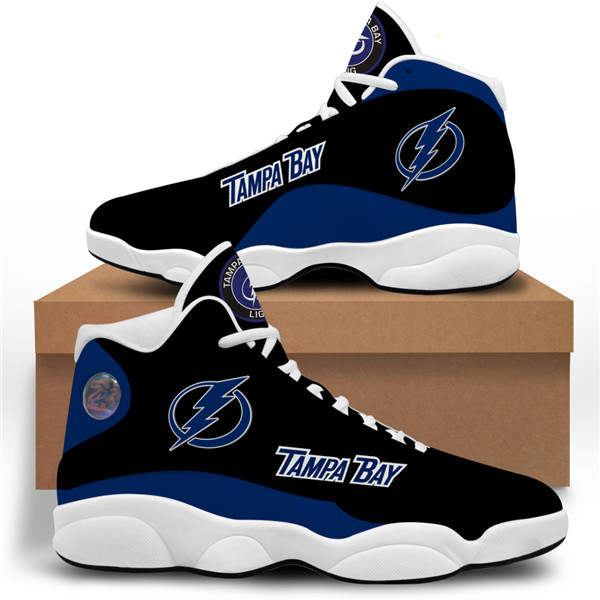 Women's Tampa Bay Lightning AJ13 Series High Top Leather Sneakers 001