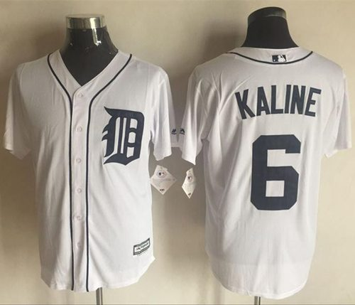 Tigers #6 Al Kaline White New Cool Base Stitched MLB Jersey
