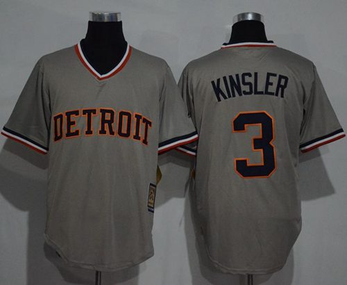 Tigers #3 Ian Kinsler Grey Cooperstown Throwback Stitched MLB Jersey