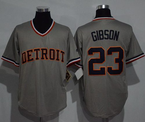 Tigers #23 Kirk Gibson Grey Cooperstown Throwback Stitched MLB Jersey