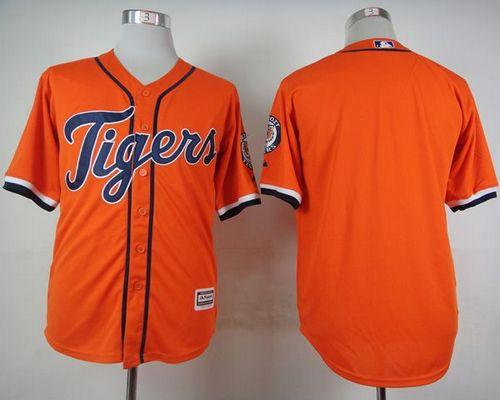 Tigers Blank Orange Cool Base Stitched MLB Jersey