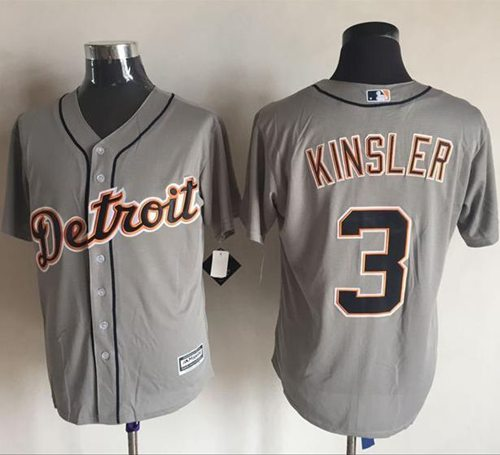 Tigers #3 Ian Kinsler Grey New Cool Base Stitched MLB Jersey