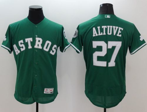 Astros #27 Jose Altuve Green Celtic Flexbase Authentic Collection Stitched MLB Jersey