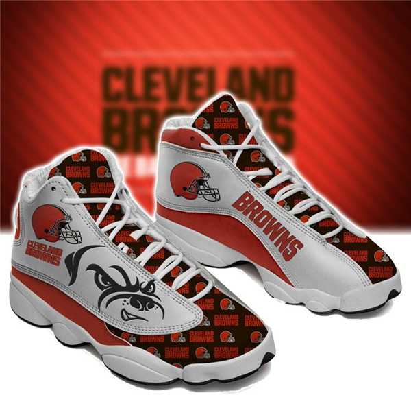 Women's Cleveland Browns Limited Edition JD13 Sneakers 004