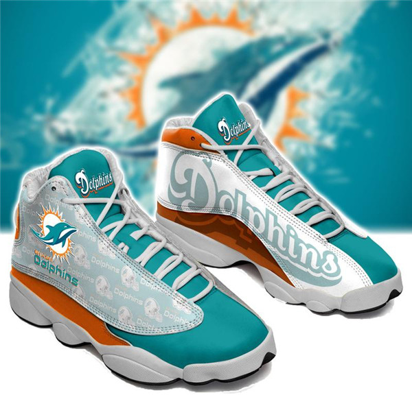 Women's Miami Dolphins Limited Edition JD13 Sneakers 005