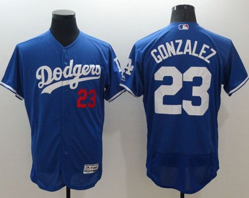 Dodgers #23 Adrian Gonzalez Blue Flexbase Authentic Collection Stitched MLB Jersey