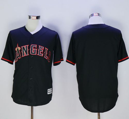 Angels of Anaheim Blank Black New Cool Base Fashion Stitched MLB Jersey