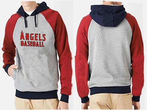 Los Angeles Angels Pullover Hoodie Grey & Red