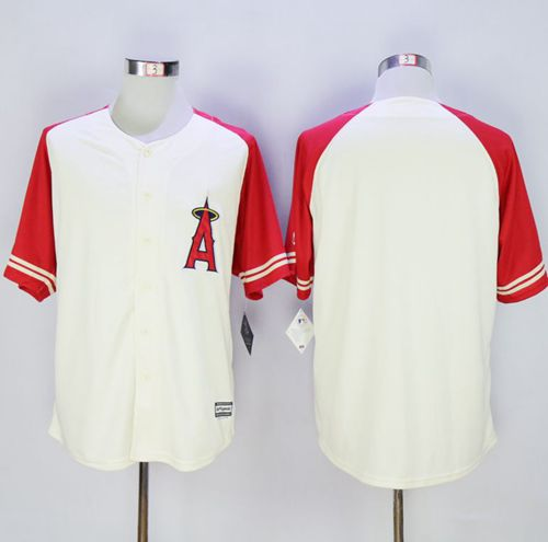 Angels of Anaheim Blank Cream/Red Exclusive New Cool Base Stitched MLB Jersey