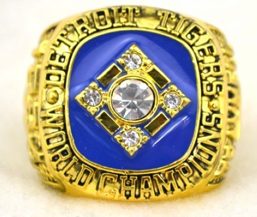 MLB Detroit Tigers World Champions Gold Ring