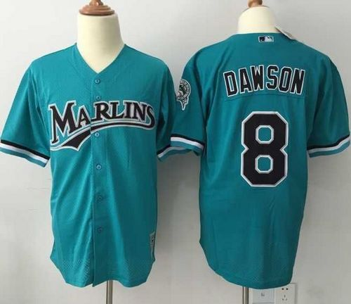 Mitchell And Ness 1995 marlins #8 Andre Dawson Green Throwback Stitched MLB Jersey