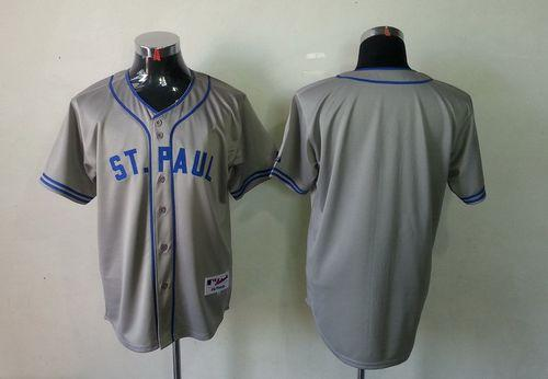 Twins Blank Grey 1948 St. Paul Saints Turn Back The Clock Stitched MLB Jersey