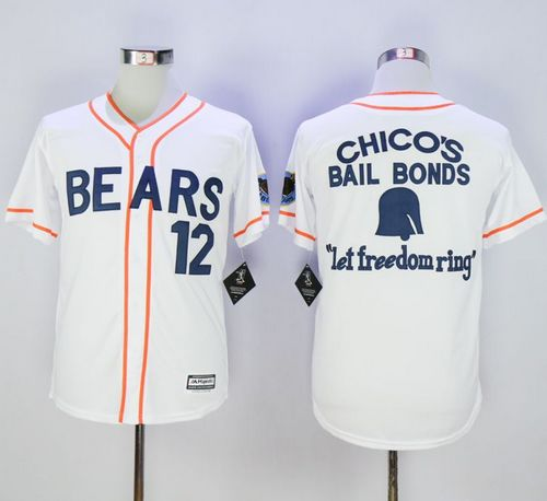 Bad News Bears Button Down #12 Tanner Boyle White Movie Stitched Baseball Jersey