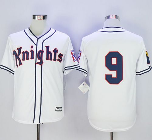 New York Knights The Natural #9 Roy Hobbs White Movie Stitched Baseball Jersey