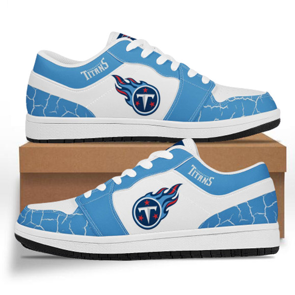 Women's Tennessee Titans AJ Low Top Leather Sneakers 001