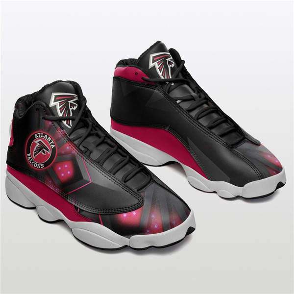 Women's Atlanta Falcons AJ13 Series High Top Leather Sneakers 002