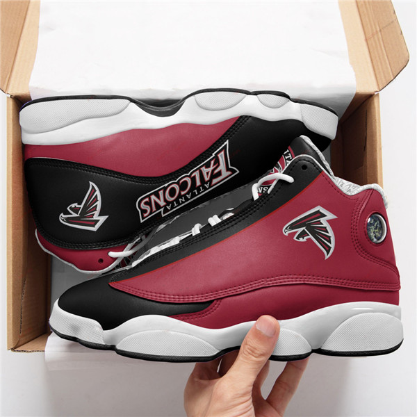 Women's Atlanta Falcons AJ13 Series High Top Leather Sneakers 005