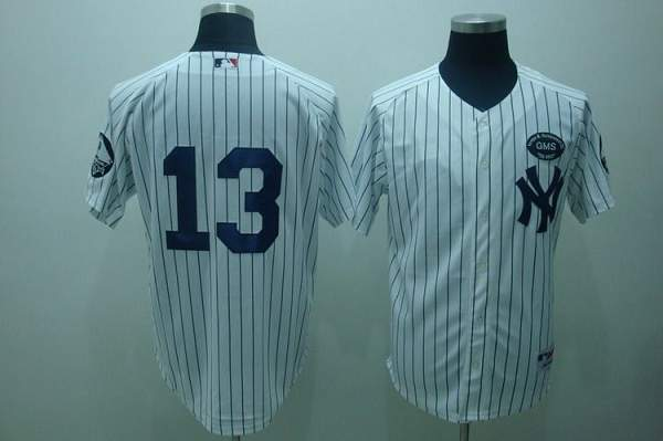 Yankees #13 Alex Rodriguez White GMS The Boss Stitched MLB Jersey