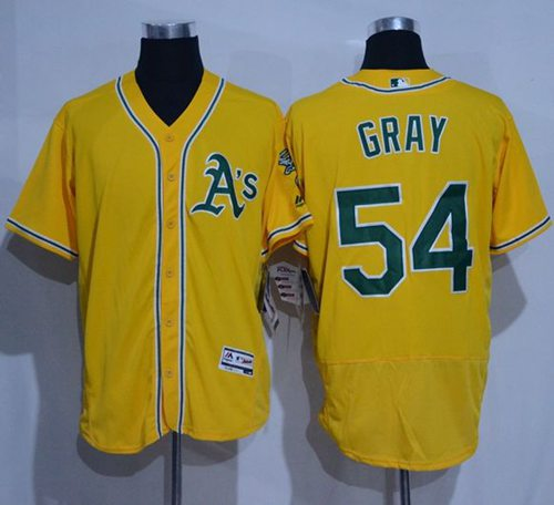 Athletics #54 Sonny Gray Gold Flexbase Authentic Collection Stitched MLB Jersey