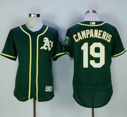 Athletics #19 Bert Campaneris Green Flexbase Authentic Collection Stitched MLB Jersey