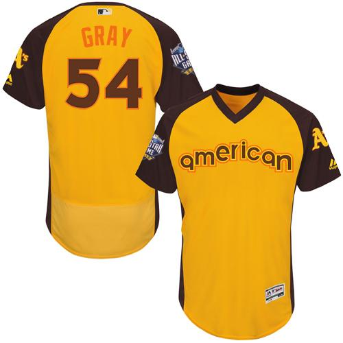 Athletics #54 Sonny Gray Gold Flexbase Authentic Collection 2016 All-Star American League Stitched MLB Jersey
