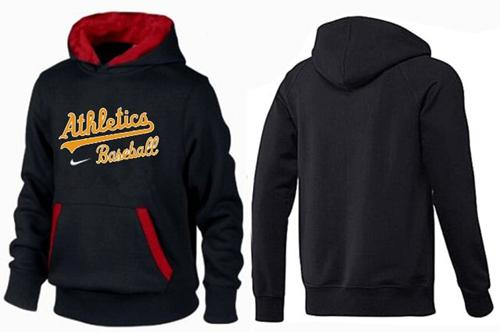 Oakland Athletics Pullover Hoodie Black & Red