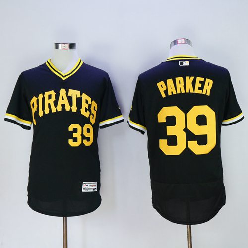 Pirates #39 Dave Parker Black Flexbase Authentic Collection Cooperstown Stitched MLB Jersey