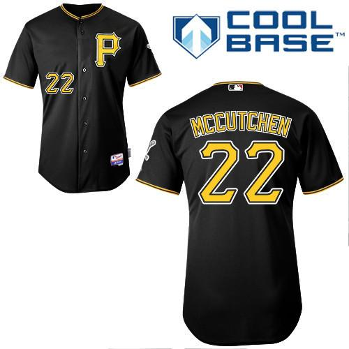 Pirates #22 Andrew McCutchen Black Stitched MLB Jersey