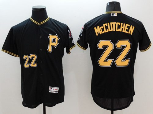 Pirates #22 Andrew McCutchen Black Flexbase Authentic Collection Stitched MLB Jersey
