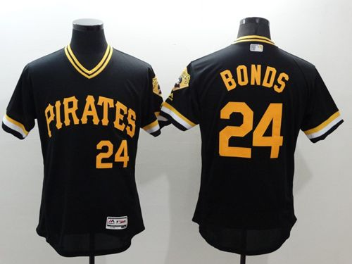 Pirates #24 Barry Bonds Black Flexbase Authentic Collection Cooperstown Stitched MLB Jersey