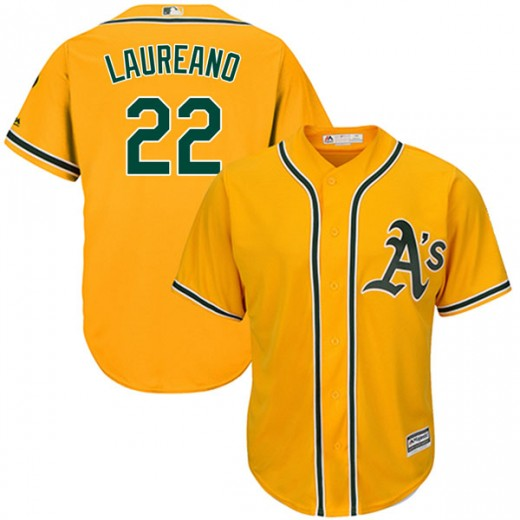 Men's Oakland Athletics #22 Ramón Laureano Gold Stitched MLB Jersey