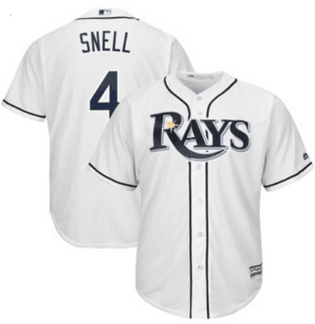 Men's Tampa Bay Rays #4 Blake Snell White Stitched Jersey