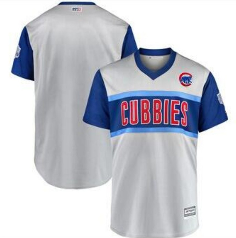 Men's Chicago Cubs Gray 2019 MLB Little League Classic Stitched MLB Jersey