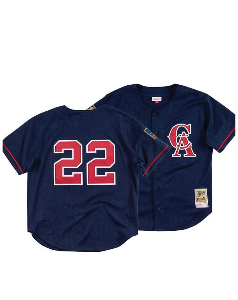 Men's Los Angeles Angels Navy #22 Bo Jackson Stitched MLB Jersey
