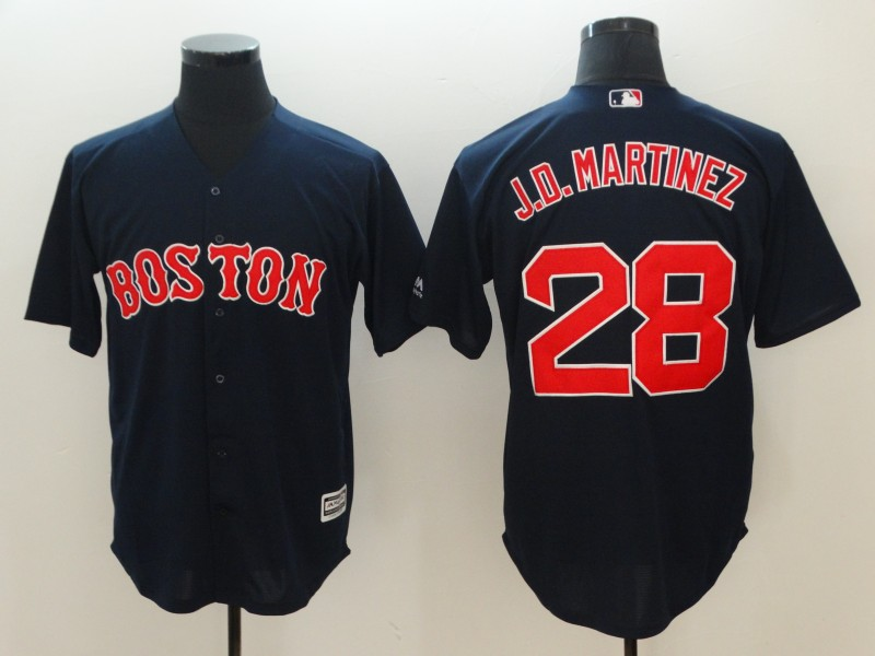 Men's Boston Red Sox #28 J.D. Martinez Navy Cool Base Stitched MLB Jersey