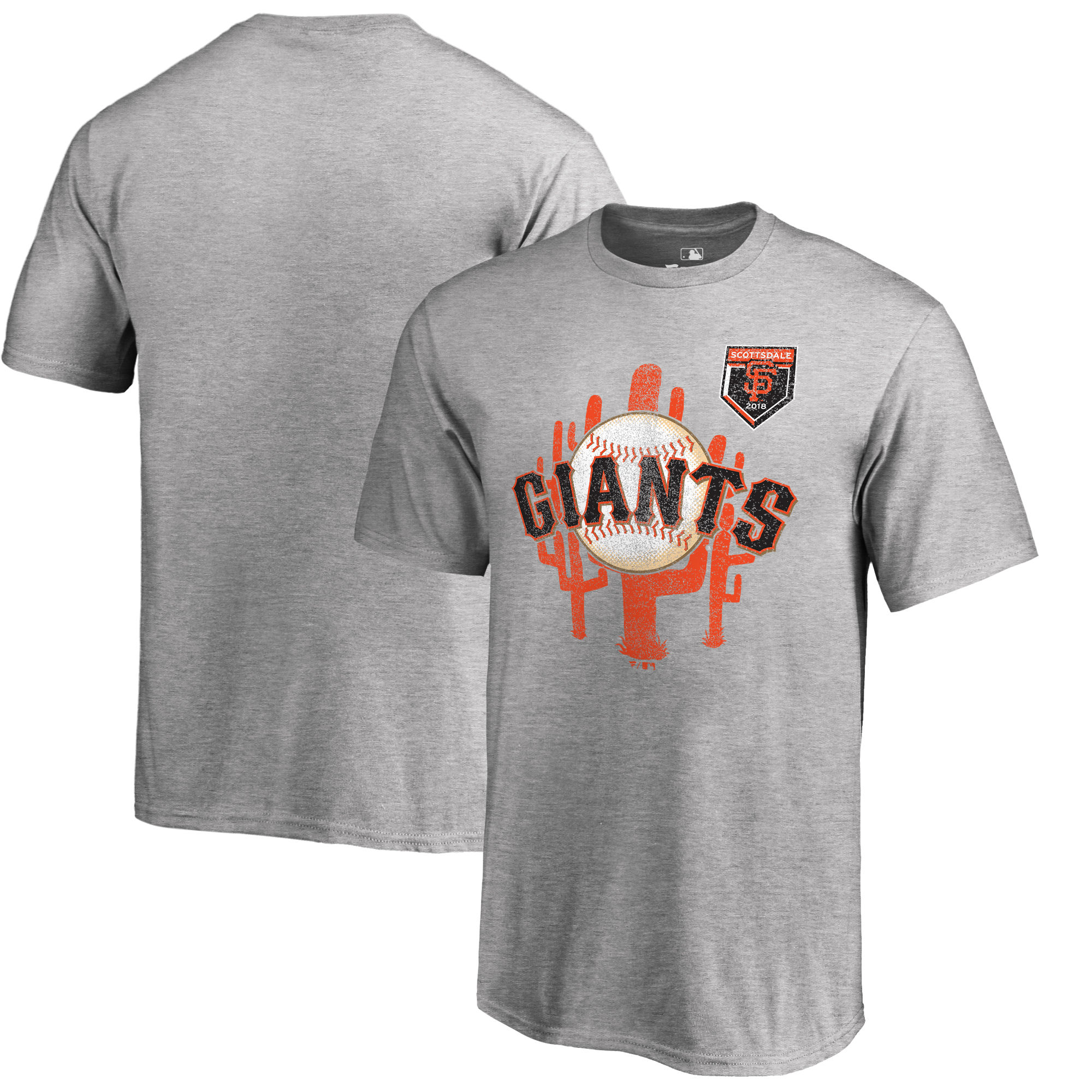 Men's San Francisco Giants Fanatics Branded 2018 MLB Spring Training Vintage T-Shirt – Heather Gray