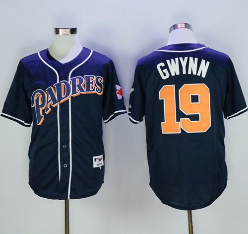 Padres #19 Tony Gwynn Navy Blue 1998 Turn Back The Clock Stitched MLB Jersey