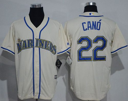 Mariners #22 Robinson Cano Cream New Cool Base Stitched MLB Jersey