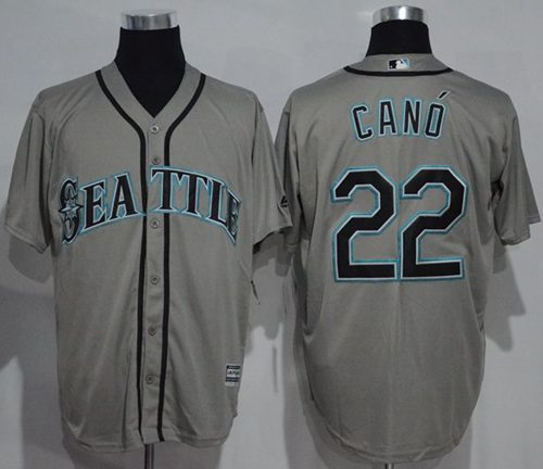 Mariners #22 Robinson Cano Grey New Cool Base Stitched MLB Jersey