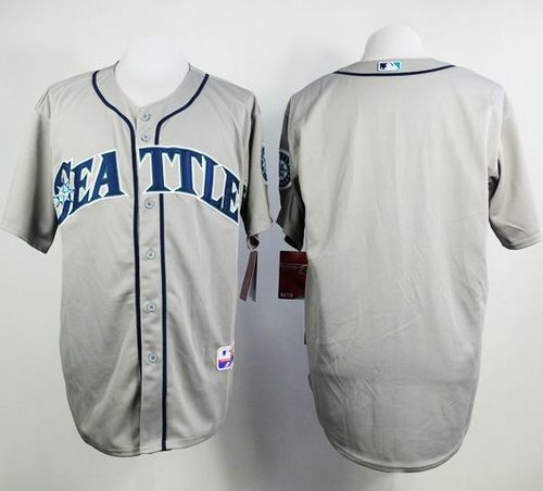 Mariners Blank Grey Cool Base Stitched MLB Jersey