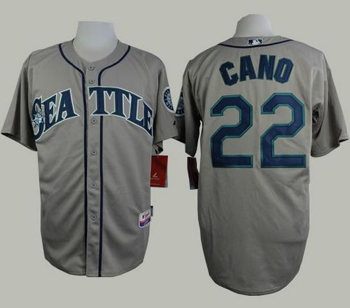Mariners #22 Robinson Cano Grey Cool Base Stitched MLB Jersey