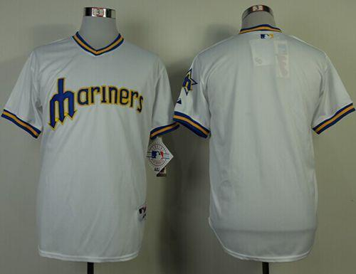 Mariners Blank White 1979 Turn Back The Clock Stitched MLB Jersey
