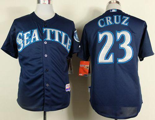 Mariners #23 Nelson Cruz Navy Blue Cool Base Stitched MLB Jersey