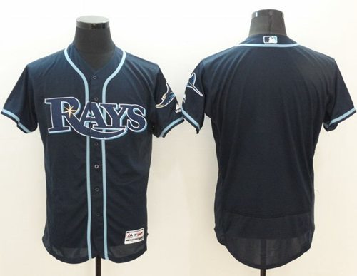 Rays Blank Dark Blue Flexbase Authentic Collection Stitched MLB Jersey