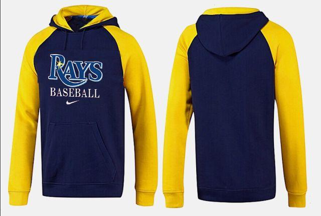 Tampa Bay Rays Pullover Hoodie Dark Blue & Yellow