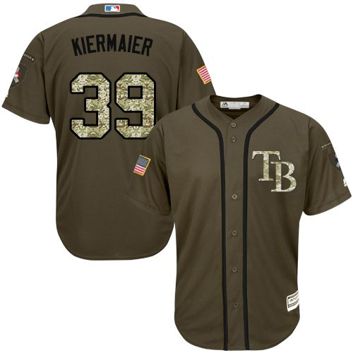 Rays #39 Kevin Kiermaier Grey Cool Base Stitched MLB Jersey